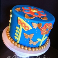 Blue Birthday This cake was inspired by a birthday invitation. All the decor is fondant