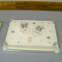 Al & Anna's 70Th Anniversary   I made three sheetcakes for my husbands grandparents who celebrated their 70th wedding anniversary. What a blessed event! TFL