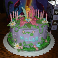 Tinkerbell 10Th   This was my daughter Halle's 10th birthday cake. TFL