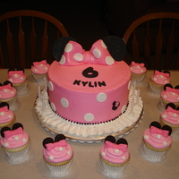 Kylin's Minnie Ears   Kylin wanted Minnie Mouse Ears on her cake. Many thanks to all the great Minnie cakes here on CC.