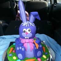 Easter Bunny Cake Bunny Wabbit Cake, made this for my daughters party at school, all cake, all MMF, buttercreme grass, this was sooooooo fun.......