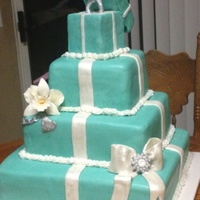 Tiffany Inspired Engagement Cake Tiffany inspired engagement cake
