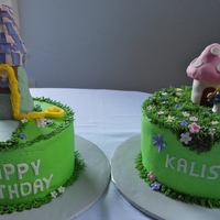 Smurf And Tangled Birthday Cakes