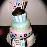 Magically Sweet Cupcake Cake   Topsy turvy cupcake cake marble cake with vanilla buttercream filling.