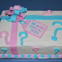 Baby Cakes Gender reveal cake- inside is blue!