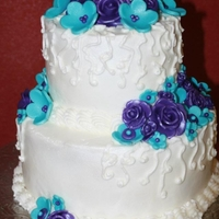 Shower Cake Fondant accents on buttercream