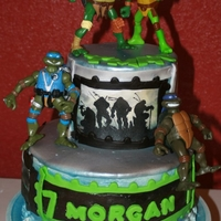 Morgan Ninja Turtles Buttercream with fondant accents and toys