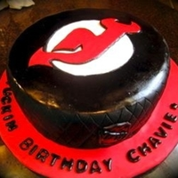 Nj Devils Hockey Birthday Cake