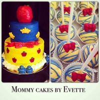 Snow White Theme Cake With Matching Cake Pops Snow White theme cake with matching cake pops