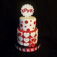 "Mini V-Day Cakes 3"" and 4"""
