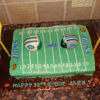 Football Field BC cake with RKT helmits