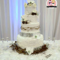 Rustic Elegance Wedding Cake