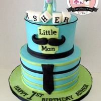 Little Man Moustache I LOVE how this turned out! Customer sent me a picture of the cake she wanted, I just changed the colors to match the invitations. The...