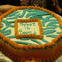 Zebra Cake 16th birthday zebra cake. buttercream icing