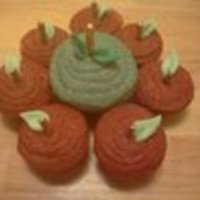 Apple Cupcakes Red & Green Apple cupcakes made for fall is near for my oldest son's class just because!