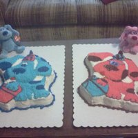 Blue And Magenta Cakes blue and magenta cakes from Blues clues