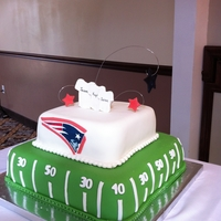 Patriots Groom's Cake This was a special groom's cake requested by the bride for her new husband who was a big Patriots fan! The cake was Red Velvet, his...