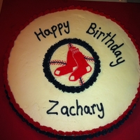 Boston Redsox Cake I made this cake for my nephew's birthday, he's a big Redsox fan. This was a buttercream transfer. Thankfully no one noticed that...