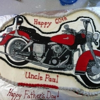 Motorcycle Cake My customer wanted a cake to look like her boyfriends motorcycle for his 60th birthday. I took the photo she gave me and did this with a...