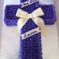 Confirmation Cake I made this confirmation cake for my niece. She loves purple, I just wish my camera was able to capture the color better, because it looks...