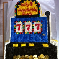 Slot Machine Cake This was my first ordered cake! My customer requested a replica of a slot machine cake picture she found on sugarcraft.com. It turns out it...