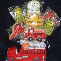 Johnathan's Graduation Cookie Bouquet I made this for my brother who graduated from fire school.