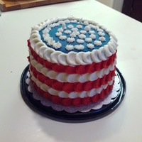 Flag Cake WASC buttercream icing