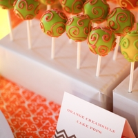 Wedding Cake Pops And Chevron Cookies cake pops and cookies for a bright summer wedding