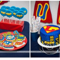 Luke's Super Hero Dessert Table *