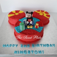 Mickey & Toodles   My client liked Mama Min's (Flicker I think) cake and asked me to copy it for her boy who is a huge Mickey's Clubhouse fan.