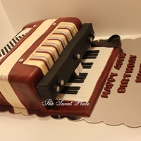 Accordian Cake Birthday cake for a musician.