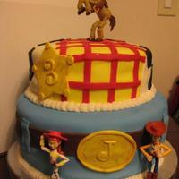 Woody This is a cake I made for my cousin's little boy. Anything that could have gone wrong with this cake, did. I learned a valuable lesson...