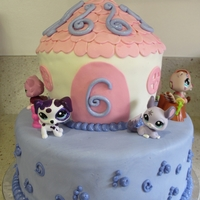 Littlest Pet Shop This is what my daughter wanted and it was my pleasure making it for her. Chocolate Cake with Chocolate Cream Cheese Frosting for the...