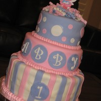 Abby Caddaby Cake A cake I made for a friends daughter. Fondant with buttercream trim. Thanks for looking.
