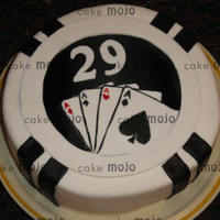 29Th Poker Bday   This was a cake we did for my brother. He's an excellent poker player! Fondant covered with gumpaste accents.