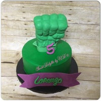 Haulk Superhero Cake Haulk Superhero cake