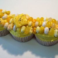 "Corn On The Cob Another fun summer cupcake that was on my ""want to try"" list. Yellow BC, jellybeans on top, starburst candy ""butter""..."