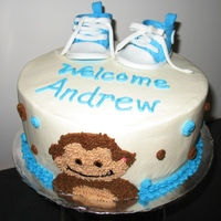 Baby Converse And Monkey After a 7-month hiatus from CC and baking, I was able to do this cake for a dear friend with a new baby. Thanks to stellastarchild for the...