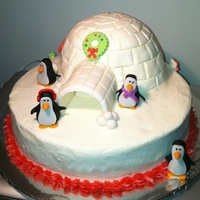 Christmas Igloo And Penguins My take on the popular igloo cake. After planning to only bring a cheesecake to my family's Christmas dinner I learned that my nephews...
