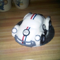 "Herbie The ""luv Bug"" CHOCOLATE CAKE COVERED IN FONDANT"