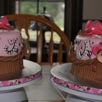 Twin Cowgirl Birthday Made for twin girls turning 4. Cakes matched their invitations! All fondant decorations - These were so much fun to do! TFL!