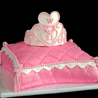 Princess Tiara Pillow Cake For a very loyal, repeat customer.
