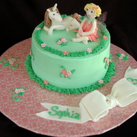 Fairy & Unicorn Cake Gumpaste figurines. Wings were made with gelatin and the gelatin sheets.
