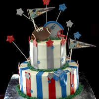 New England Patriots Cake There is an inspiration cake, but I am not sure of the original caker as the customer sent me the pic.
