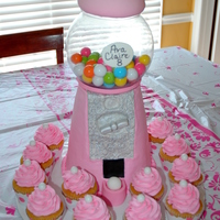 "Nostalgic Gumball Machine Cake The ""glass bowl"" was a plastic fish bowl I found at a Pet Store for $5. Gumballs were purchased at Party City. I didn't..."
