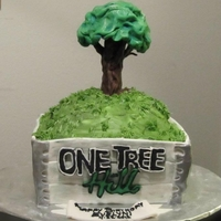 "One Tree Hill Cake a client asked me if I could make a ""One Tree Hill"" cake. I said I'd never seen the show and asked what it was about. They&#..."