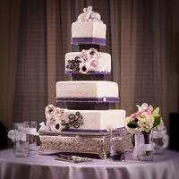 White Wedding: Trimmed In Plum, Pewter & Black