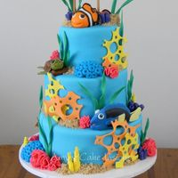 Jacoby's Under The Sea Cake Created for a little boy named Jacoby for his 1st birthday. All pieces are made of gumpaste or fondant.