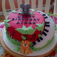 Jungle Music Theme Birthday Cake Jungle Music Theme Birthday Cake