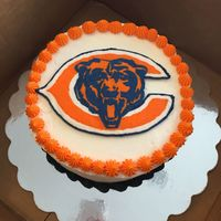 Chicago Bears Birthday Cake With Frozen Buttercream Transfer Chicago Bears birthday cake with frozen buttercream transfer